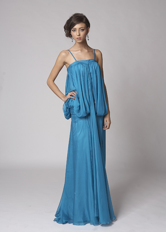 Grecian Goddess Blue Evening Dress - Sentani Boutique Bridal, Formal And Evening Dresses Fashion Store