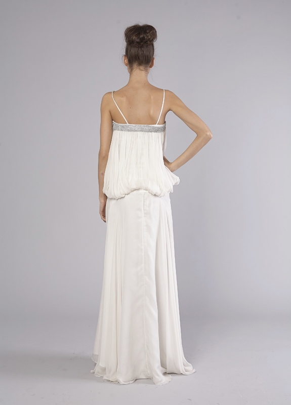 Grecian Goddess White Wedding Dress