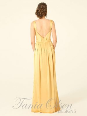 Destiny Mustard Evening Dress