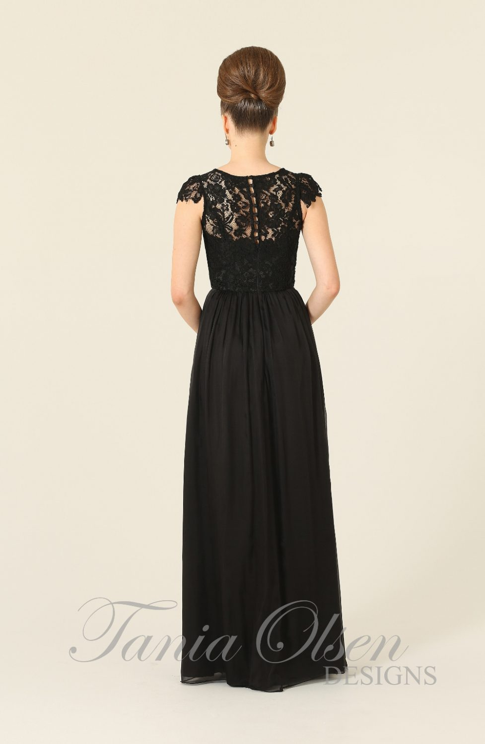 Latitia Bridesmaid Dress Black