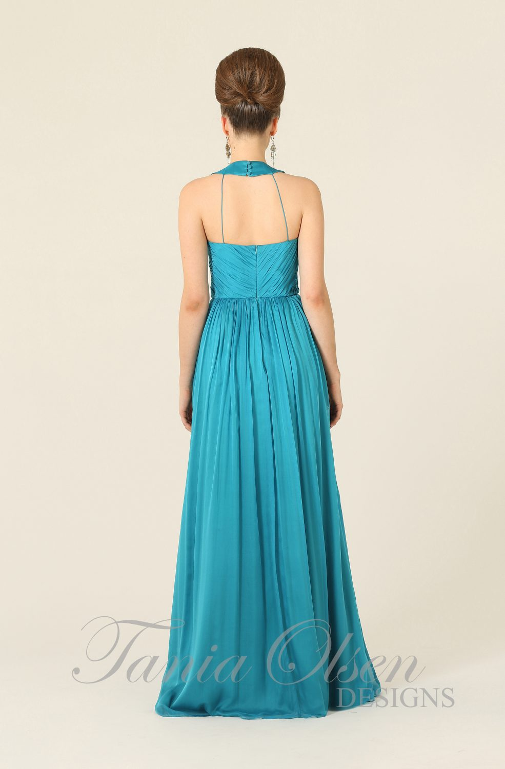 Silk Romance Bridesmaid Dress Peacock