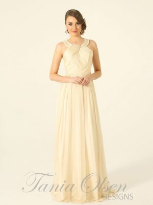 Silk Romance Bridesmaid Dress Pale Yellow