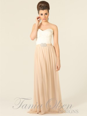 Lana Beige Bridesmaids Dress - Sentani Boutique Bridal, Formal And Evening Dresses Fashion Store