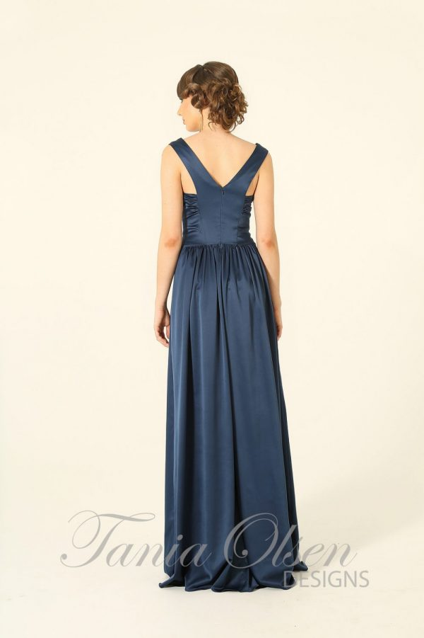 Aurelia Beaded Navy Evening Dress