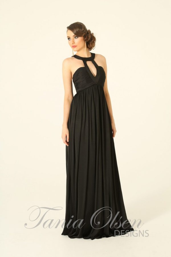 Adriano Black Evening Dress - Sentani Boutique Bridal, Formal And Evening Dresses Fashion Store