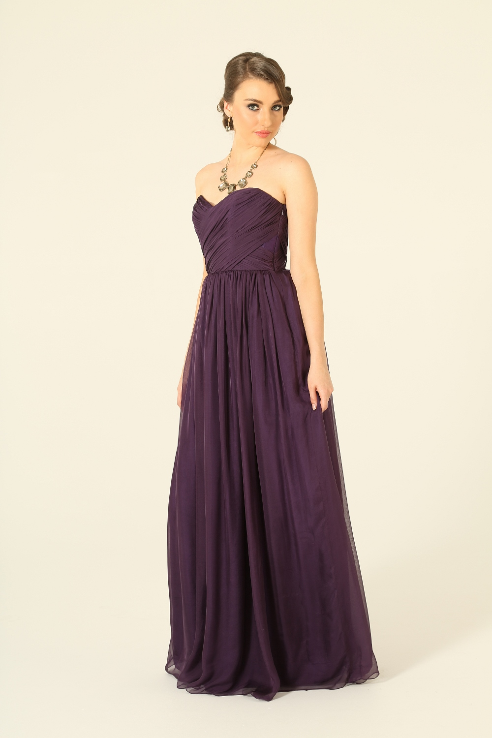 Amelia Aubergine Bridesmaid Dress