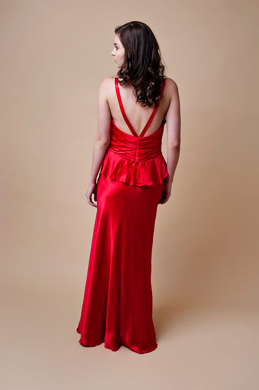 Red Silk Slinky Formal Dress - Sentani Boutique Bridal, Formal And Evening Dresses Fashion Store