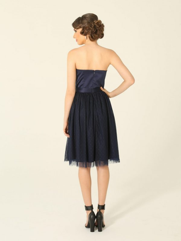 Milly Navy Strapless Cocktail Dress