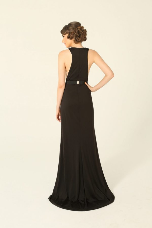 Emily Fishtail Black Evening Dress