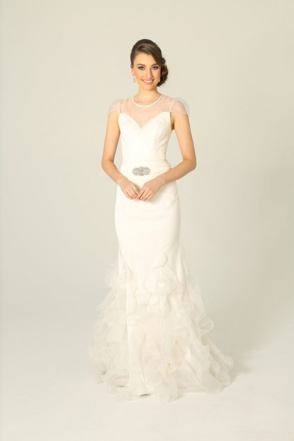 Giselle Mermaid Ruffled Wedding Dress
