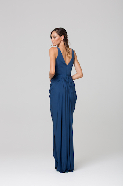 Bianca Soft Drape Evening dress back