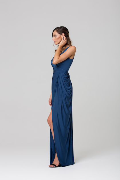 Blanca Soft Drape Evening dress side