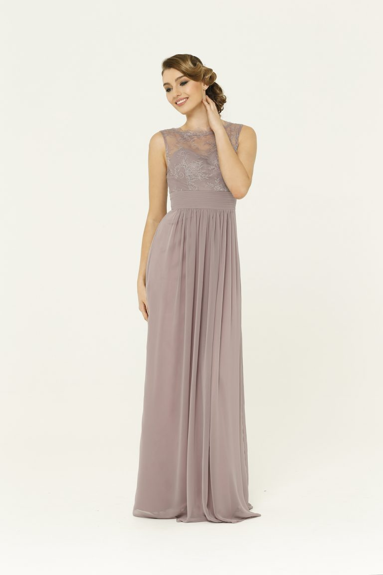 Charlotte Oyster Bridesmaid Dress