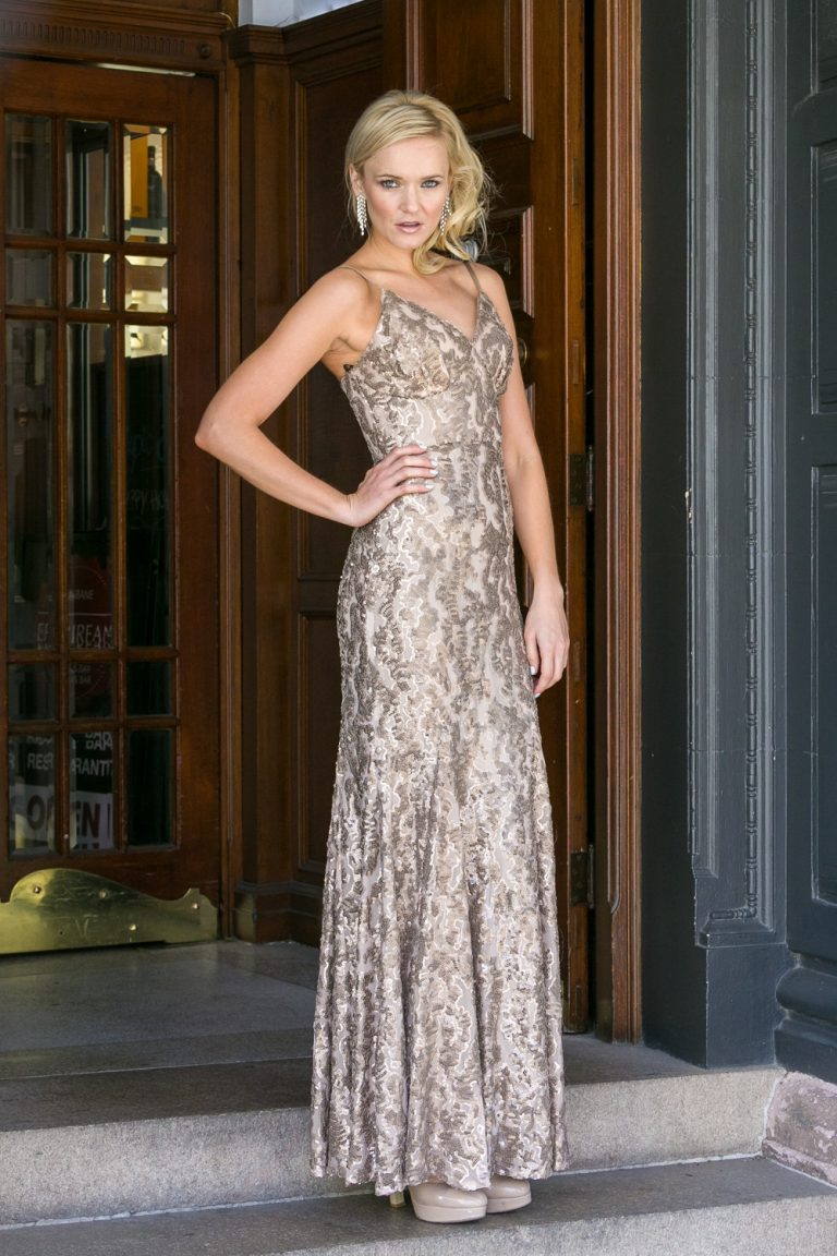 Rose Gold Mila Evening Dress