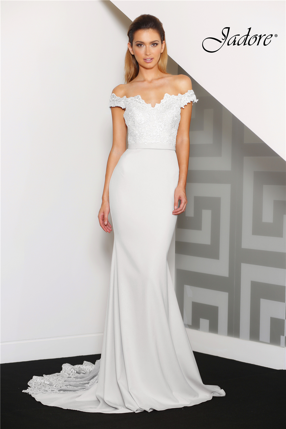 Jade Ivory Evening Dress