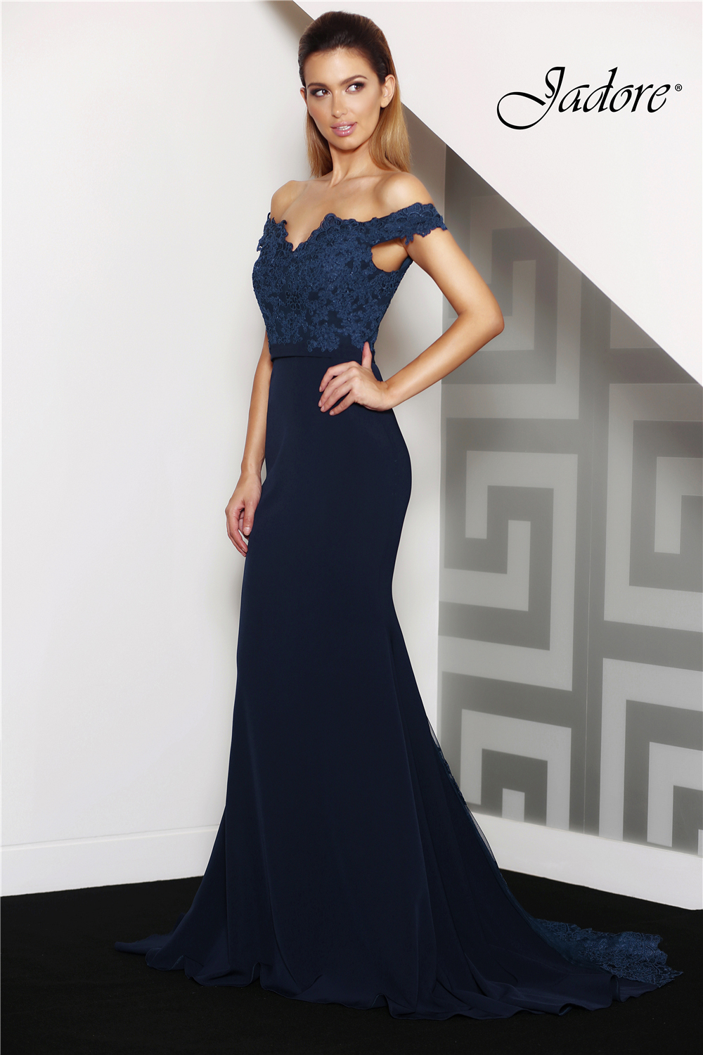Jade Navy Evening Dress