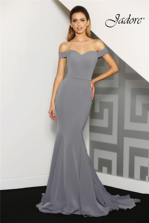 Lucy Charcoal Evening Dress