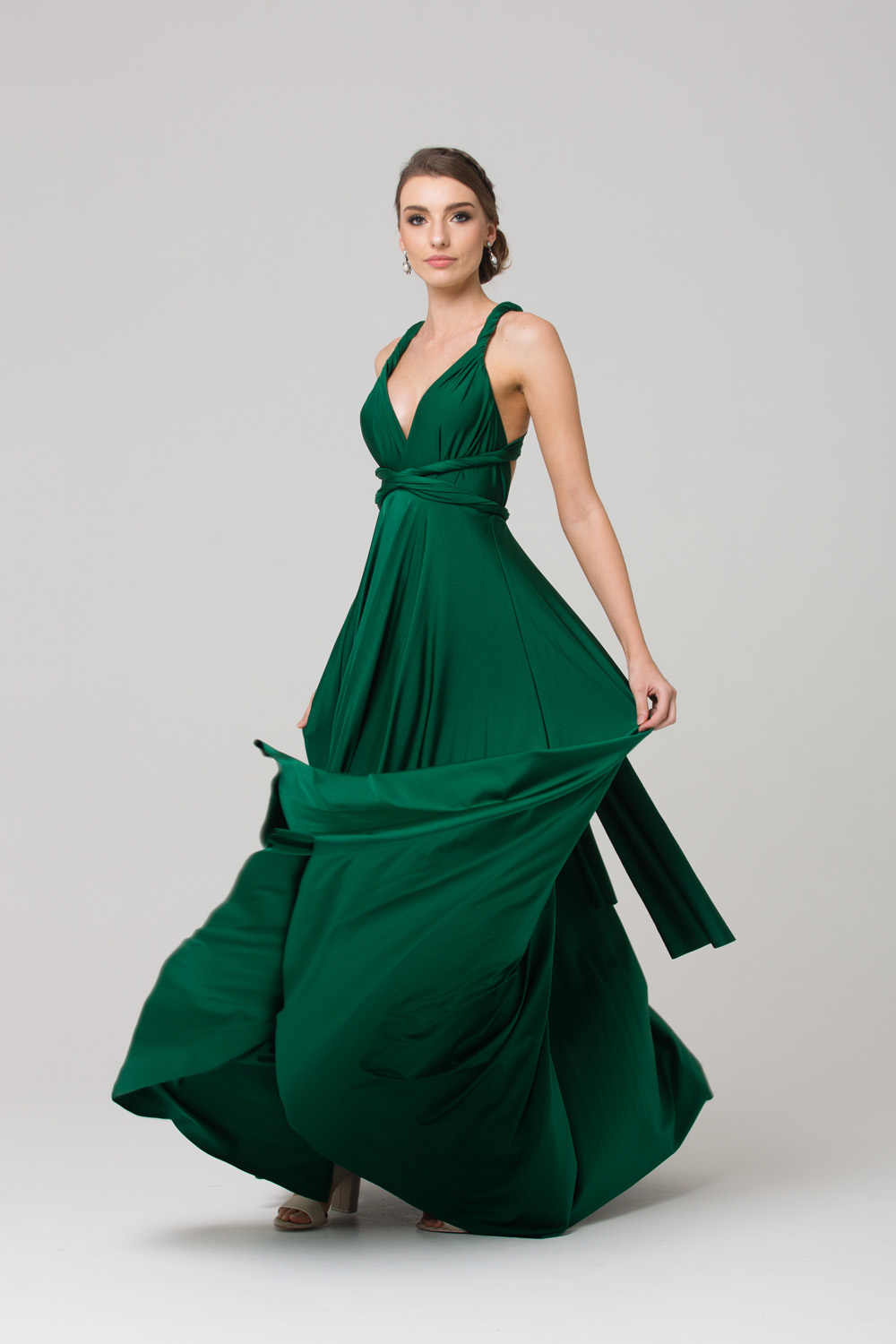 PO31 EMERALD WRAP DRESS FULL