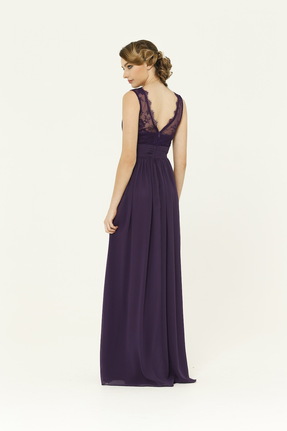 Charlotte Aubergine Bridesmaid Dress