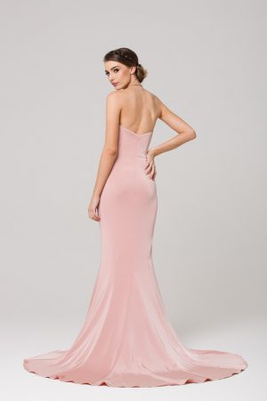 Kiara strapless fitted sweetheart formal dress back