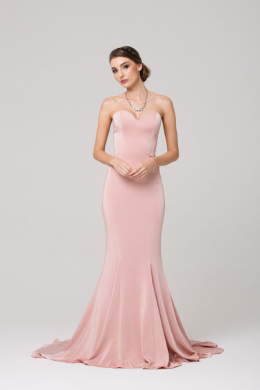 Kiara strapless fitted sweetheart formal dress