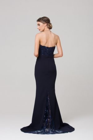 Paloma fitted strapless bridesmaid dress back