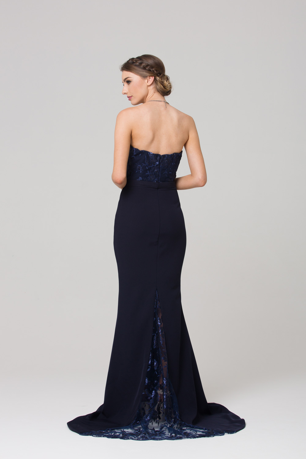 Paloma fitted strapless bridesmaid dress sentani boutique for Fitted strapless wedding dress