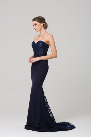 Paloma fitted strapless bridesmaid dress side