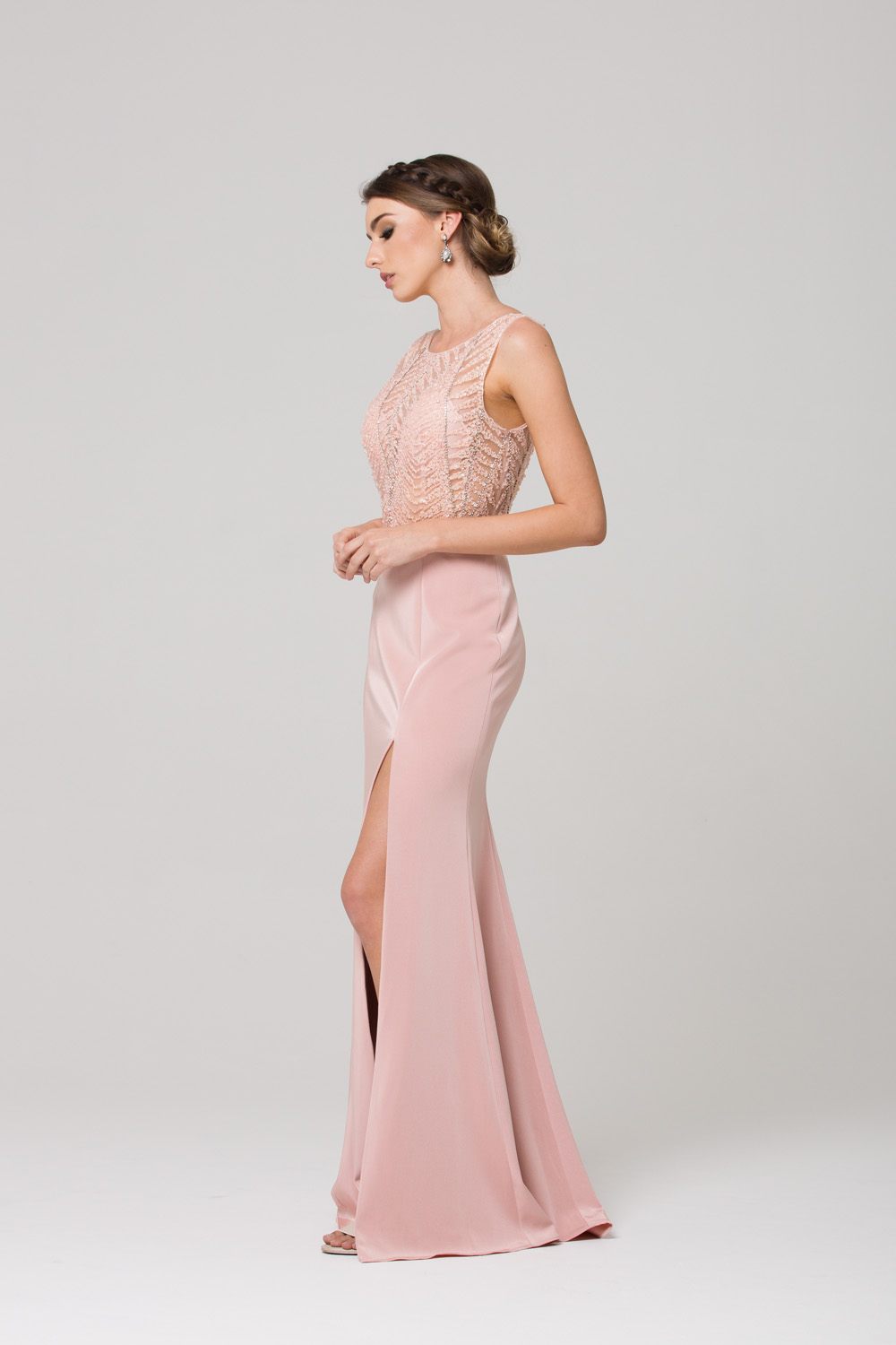 zaylee beaded low back evening dress sentani boutique