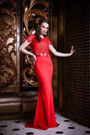 PO61 Red Zoe Formal dress