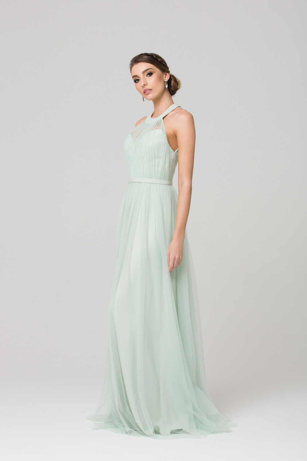 PO73 PARIS BRIDESMAID DRESS MINT SIDE