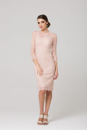 PO78 Esta mother of the bride dress BLUSH FRONT