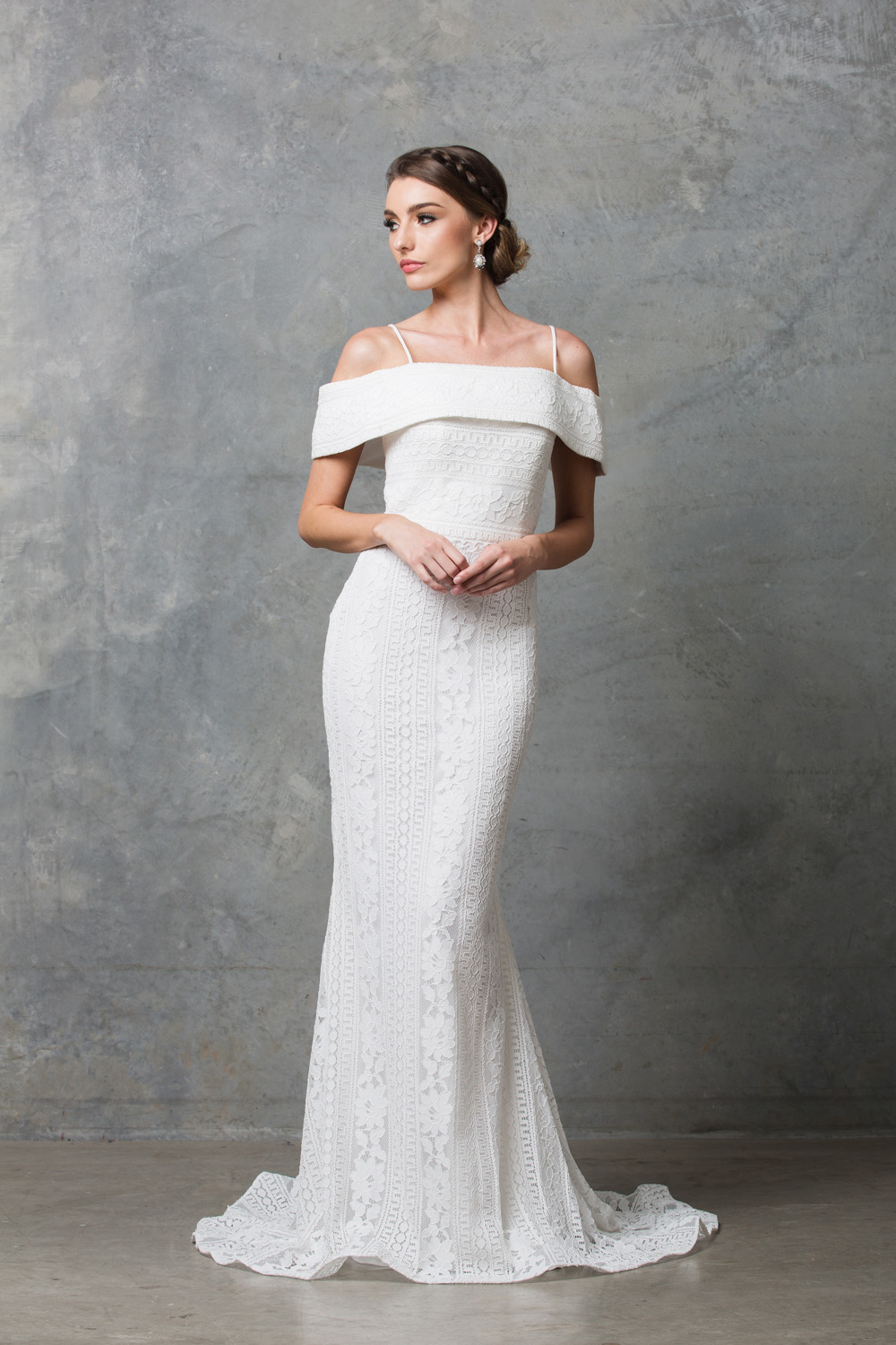 Vanita Beaded off Shoulder Wedding Dress - Sentani Boutique