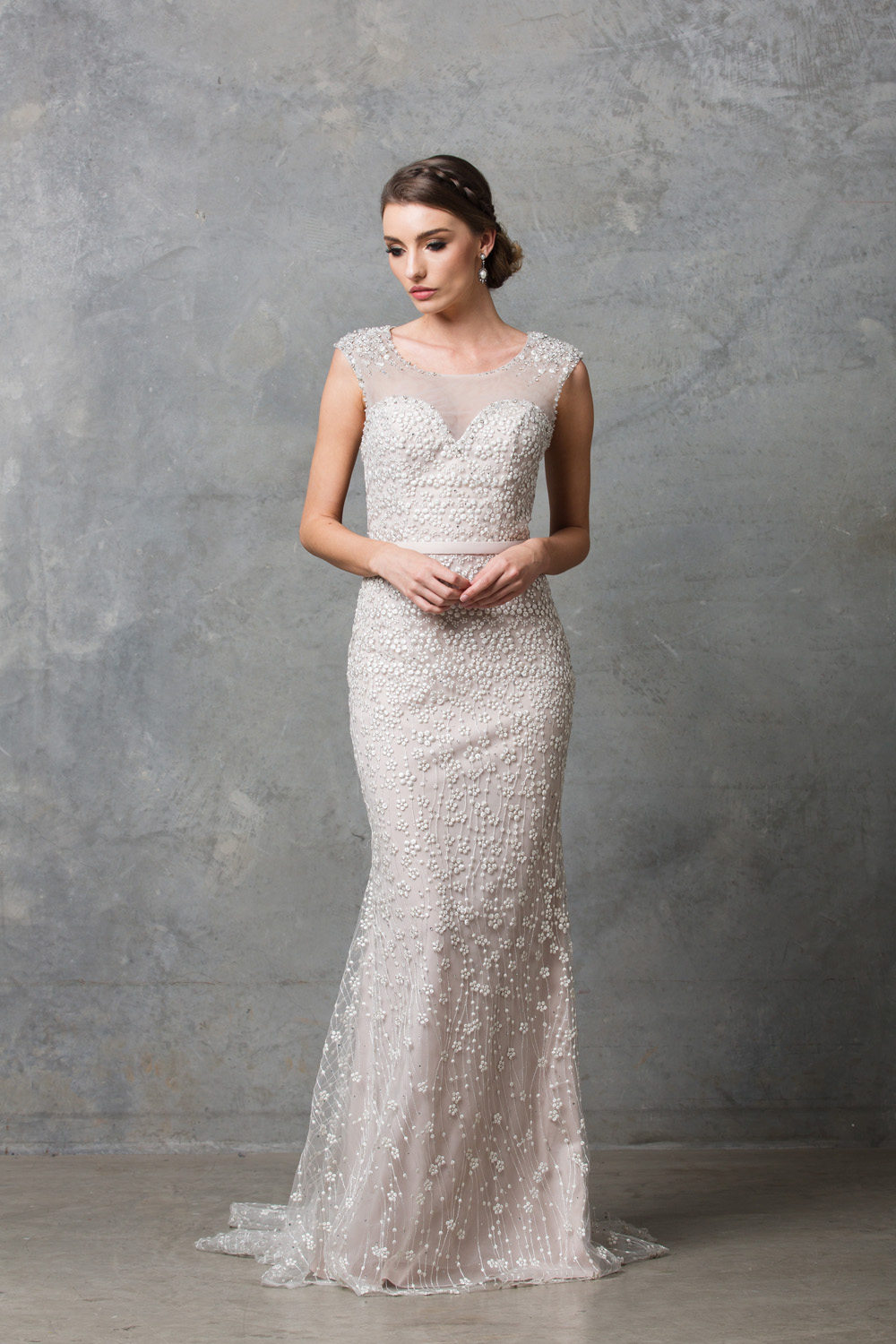 tatiana beaded lace wedding dress beaded and lace