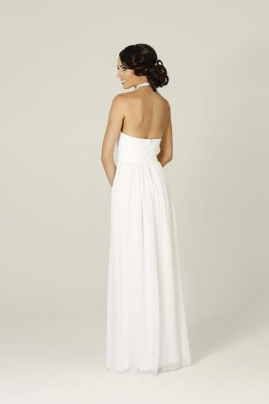 White Harlow Wedding Dress