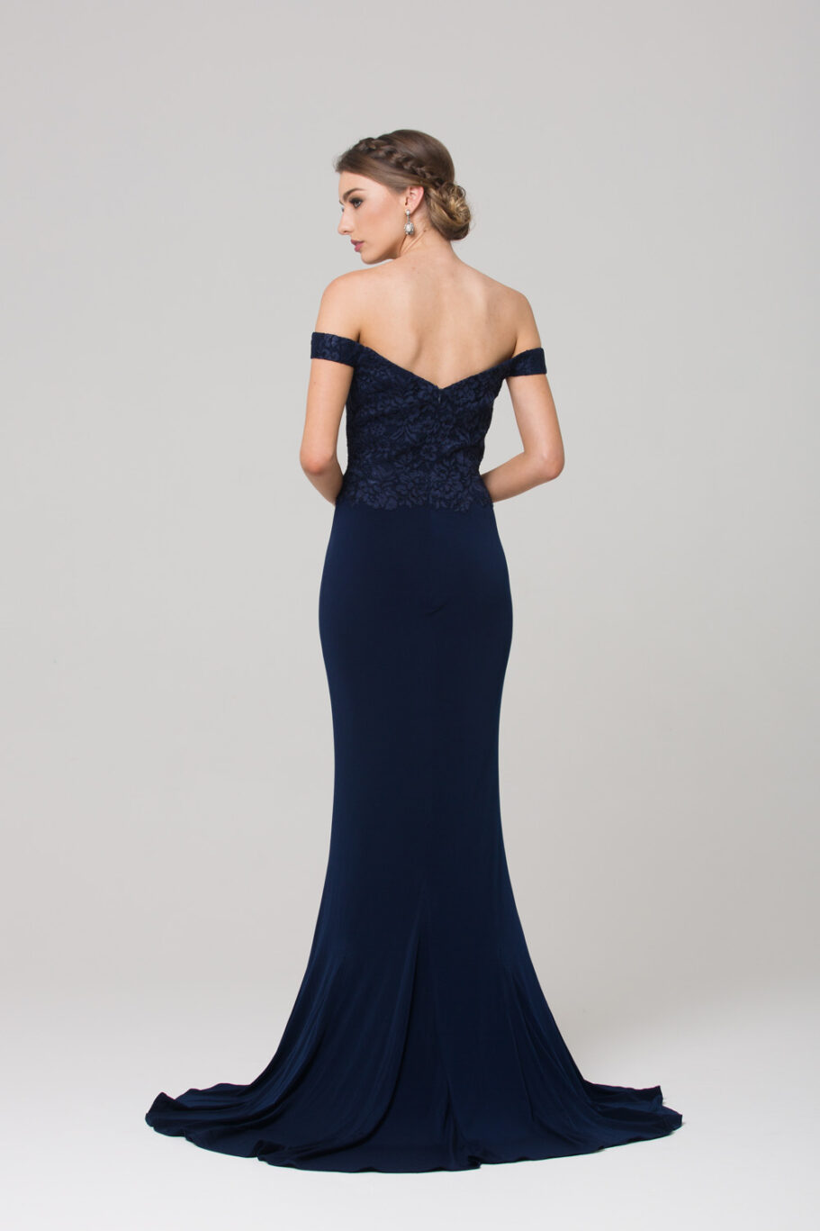 TO778 Jacqulyn Formal dress NAVY BACK