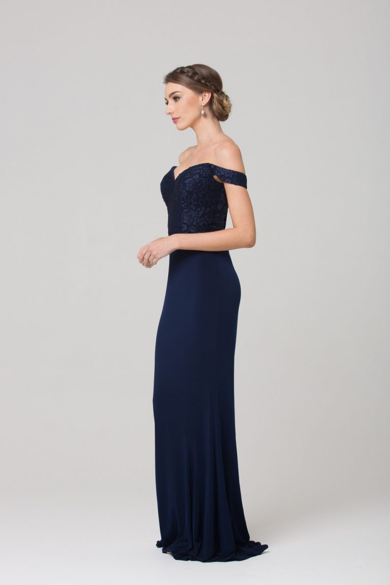 TO778 Jacqulyn Formal dress NAVY SIDE