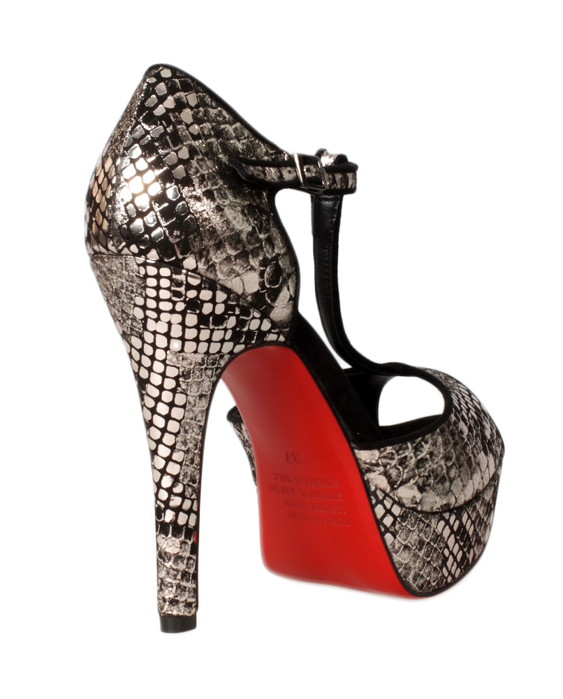 Snake skin gun metal heels - Sentani Boutique Bridal, Formal And Evening Dresses Fashion Store