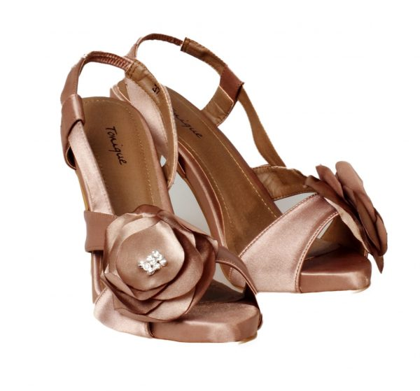 Satin rose flower heels - Sentani Boutique Bridal, Formal And Evening Dresses Fashion Store