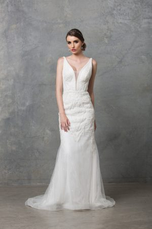 Adelia beaded wedding dress