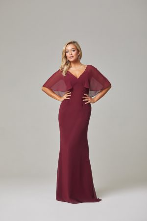 Alora Bridesmaid Dress-Merlot