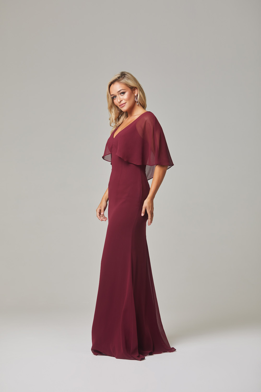 Alora Bridesmaid Dress-Merlot-side