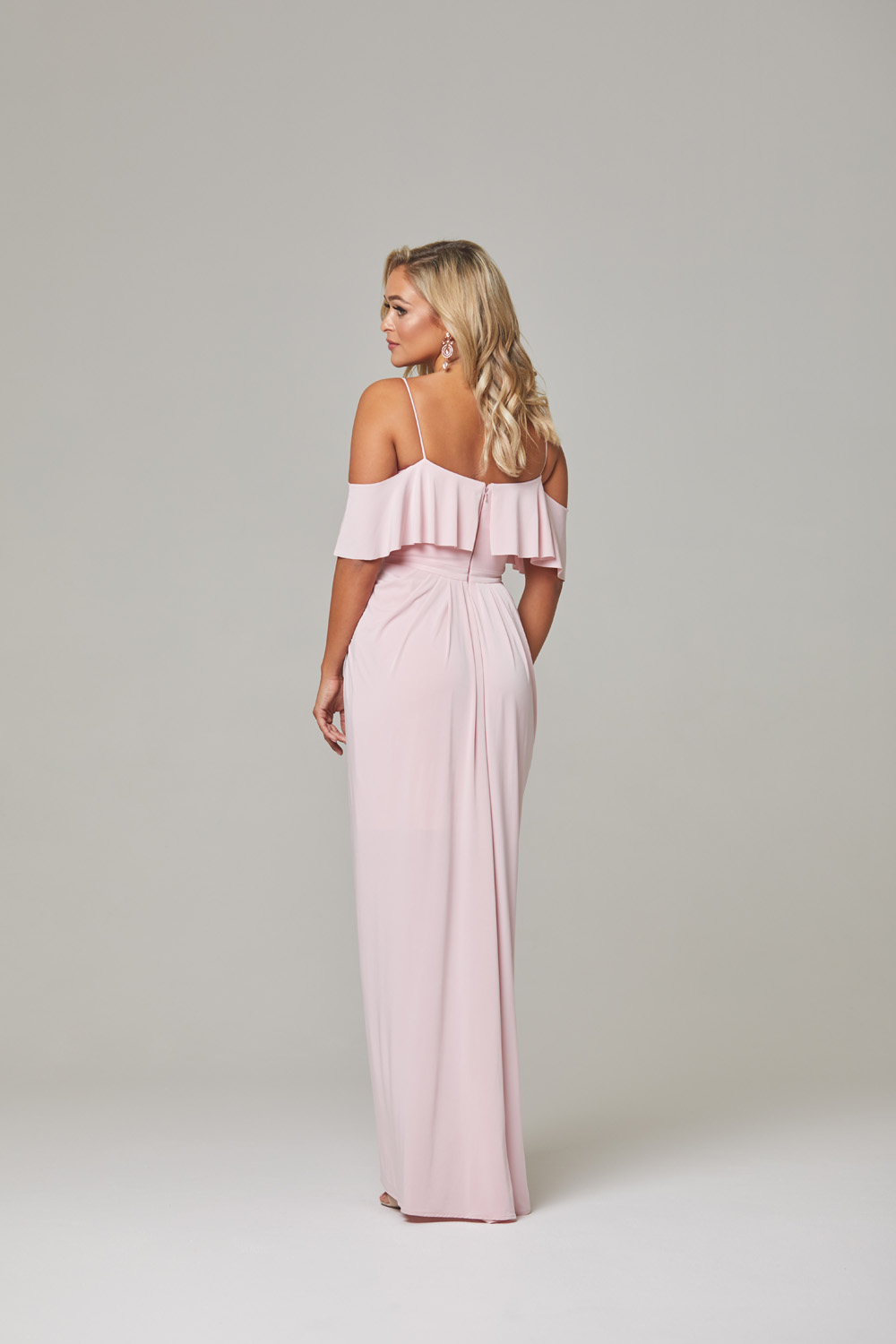 Arianna Bridesmaid Dress-pink-back