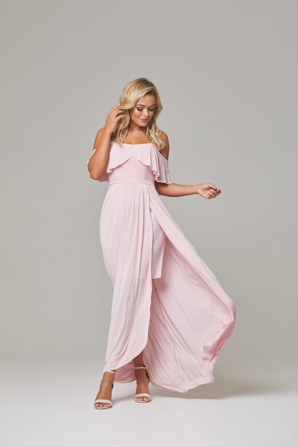 Arianna Bridesmaid Dress-pink-front