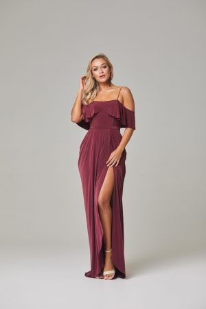 Arianna Bridesmaid Dress Wine