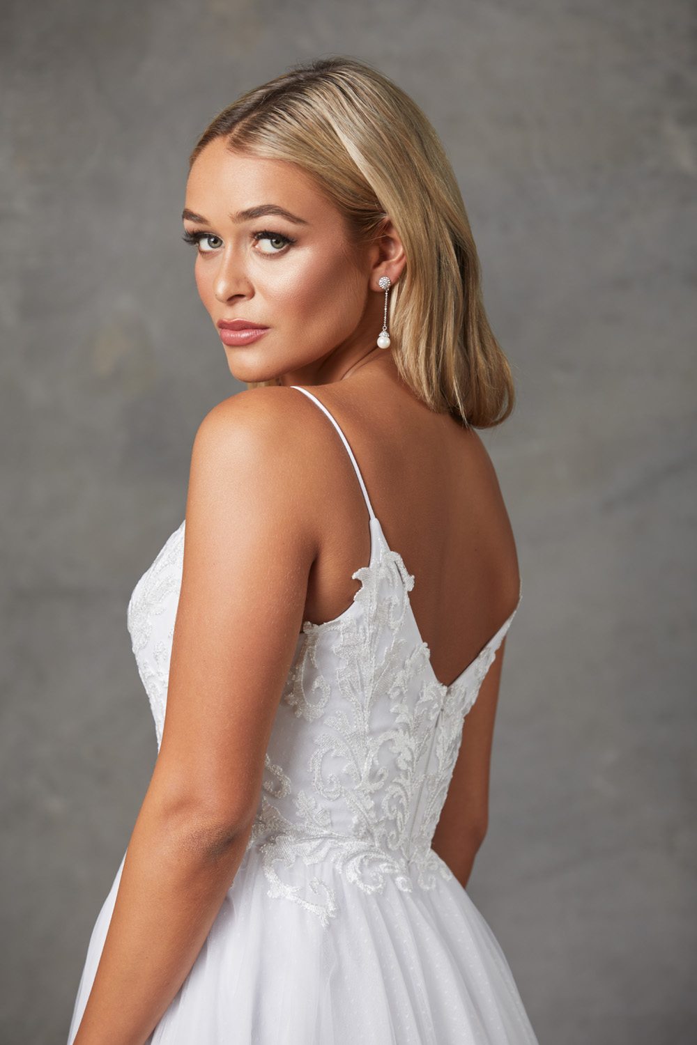 Aubriel Wedding Dress-backcloseup
