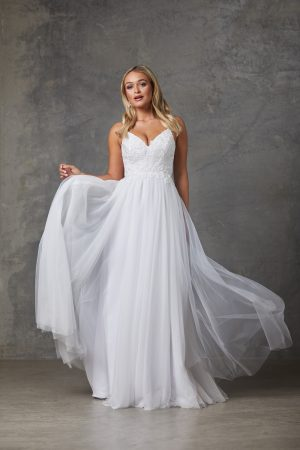 Aubriel Wedding Dress-Purewhite