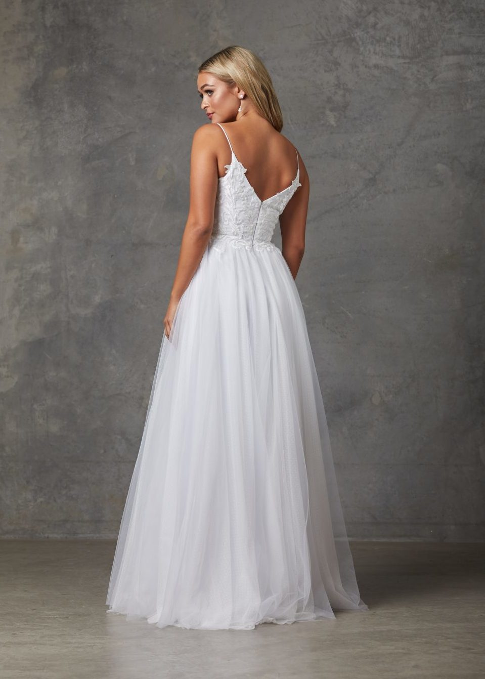 Aubriel Wedding Dress-Purewhite-back