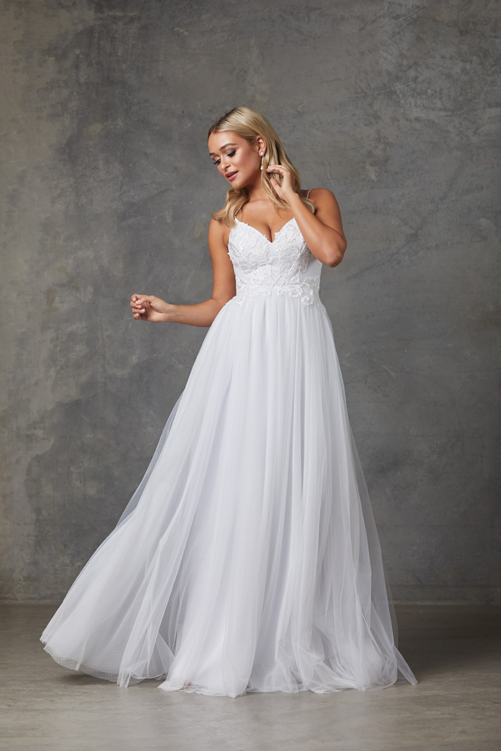 Aubriel Wedding Dress-Purewhite-front