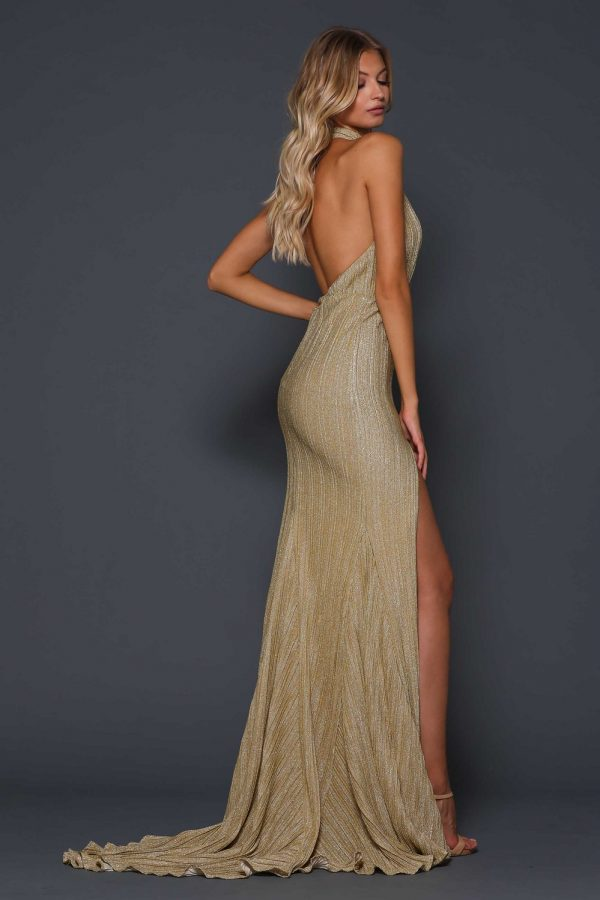 Blair-Rose halter neck formal dress